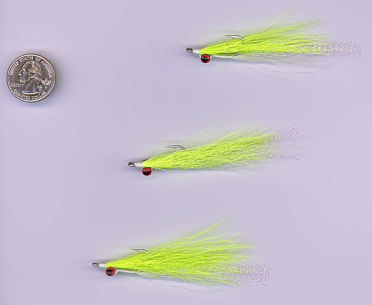 6 Each #1 Olive And White Clouser Minnow