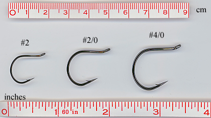 100 Olde Fly Shop Cutting Point Saltwater fly tying hooks queue longue #6